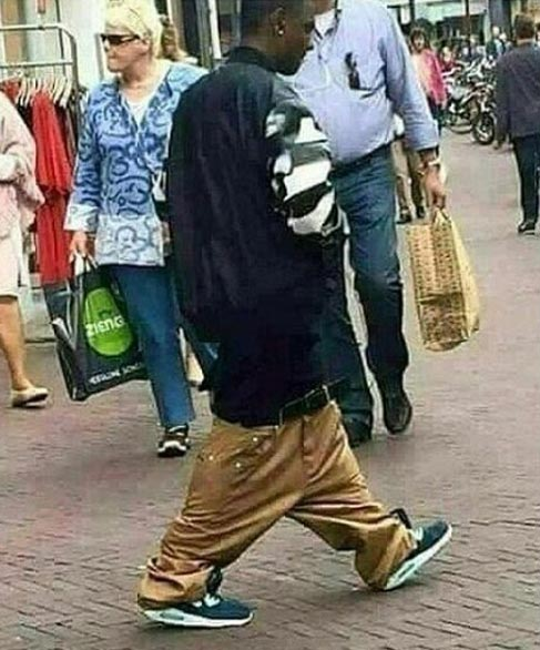 Picture of man sagging beyond limits goes viral