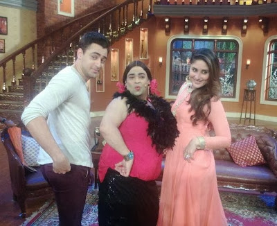 Imran Khan & Kareena Kapoor on the sets of Comedy Nights with Kapil