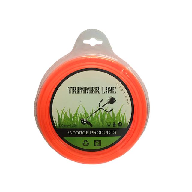 เอ็นตัดหญ้า แบบเหลี่ยม 3.0 มิล 45 เมตร (สีส้ม)