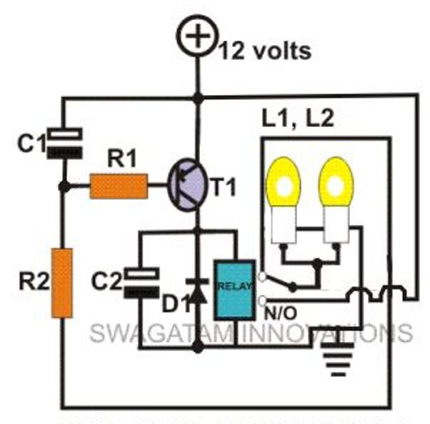 2 pin led flasher relay wiring diagram how to calculate bending moment simple hobby electronic circuit projects | homemade