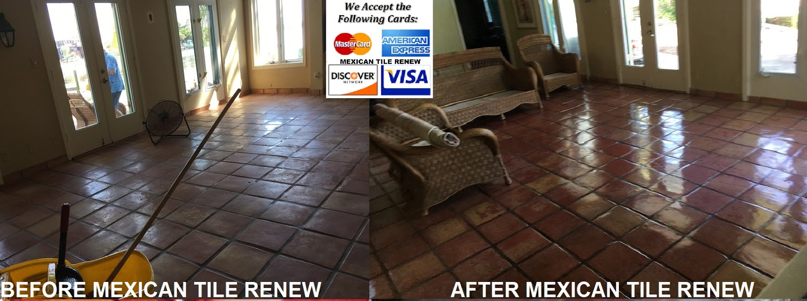Mexican Tile Renew Project In St Pete Fl At Home On The Bay Where Rubber Pad Stuck To