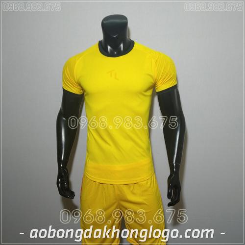 Áo bóng đá không logo TL Ya  màu vàng