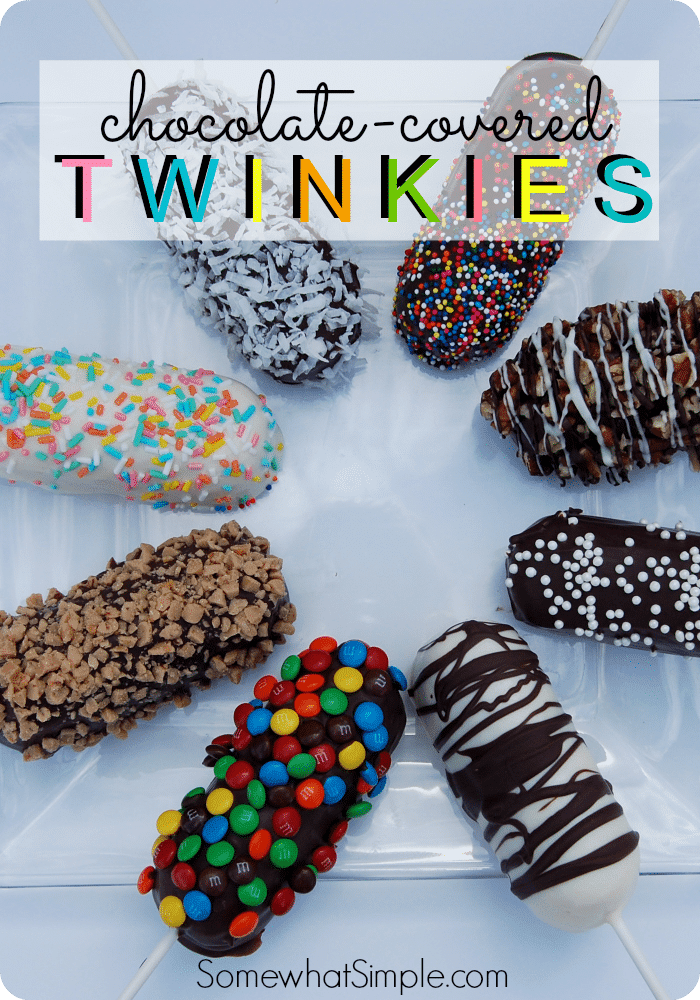 Chocolate Covered Twinkies #Chocolate #Chip #Peanut #Snack #Colorful #Easy