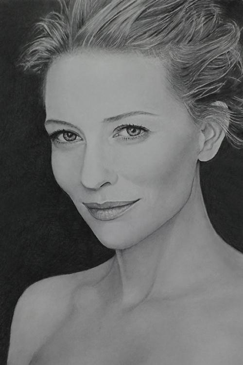 02-Cate-Blanchett-ekota21-Very-Detailed-Celebrity-Portrait-Drawings-www-designstack-co