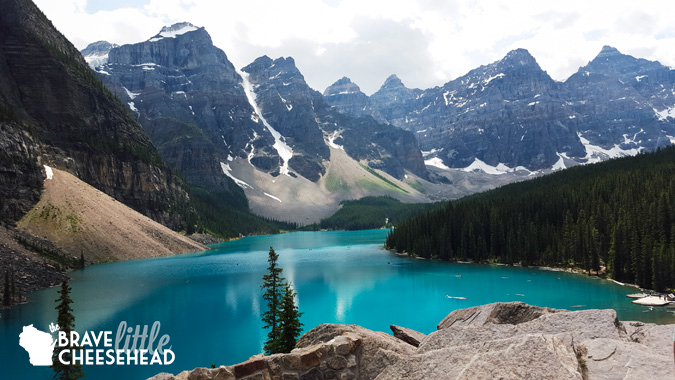 Moraine Lake & Rockpile from The Best of Banff | The Brave Little Cheesehead at bravelittlecheesehead.com