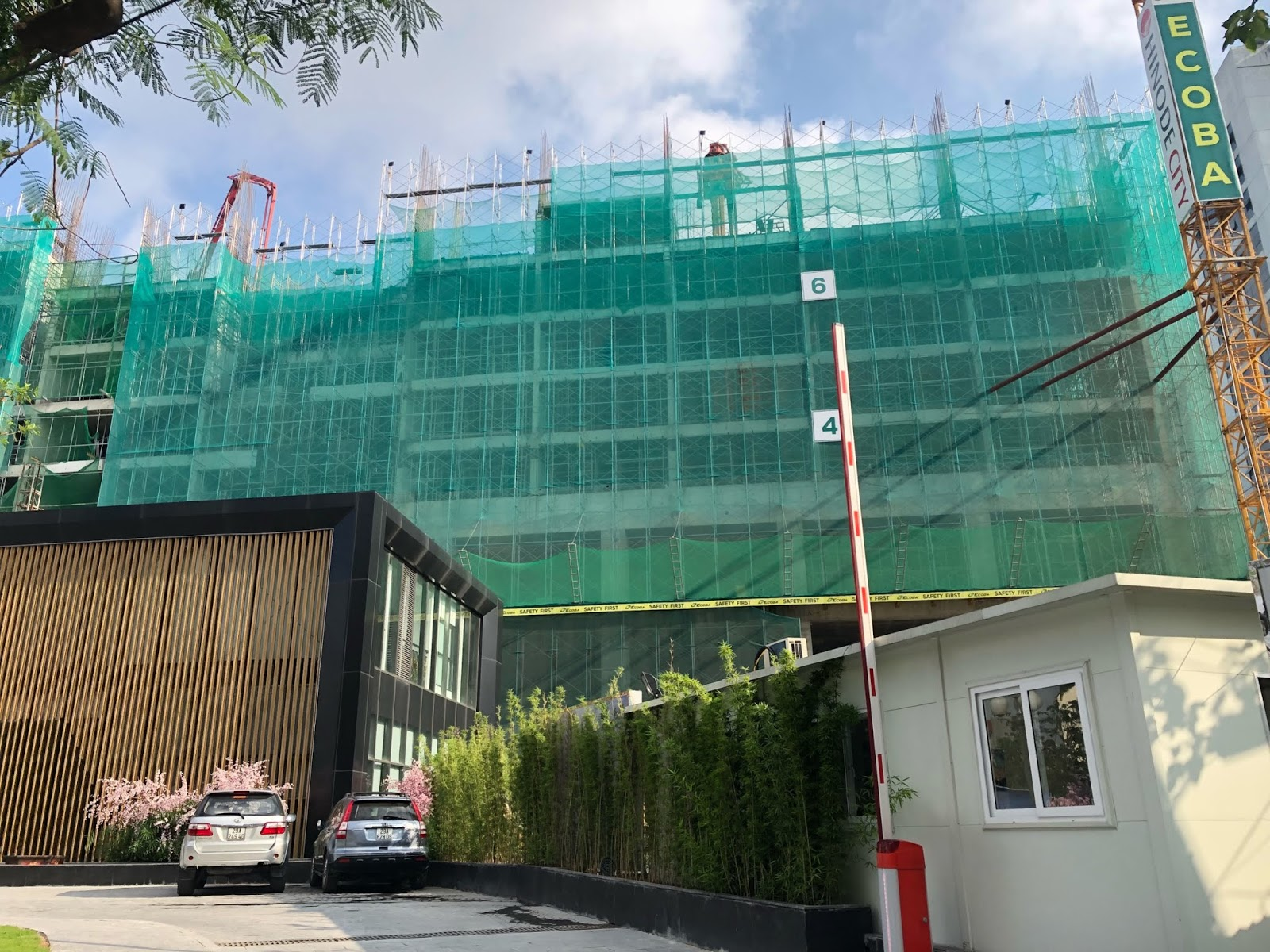 Tiến độ xây dựng toà Hi-mark dự án Hinode Minh Khai