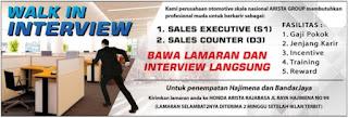 Walk In Interview ARISTA GROUP Penempatan Hajimena dan Bandar Jaya Desember 2017