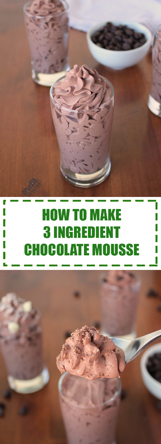 How to Make 3-Ingredient Chocolate Mousse