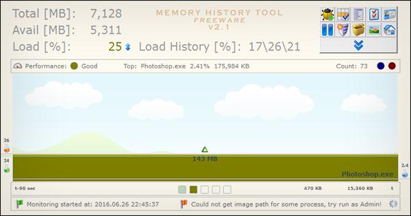 برنامج Memory History Tool