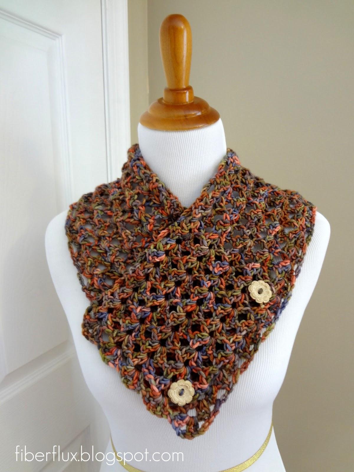 7e4e74c93d7b5 Fiber Flux  Free Crochet Pattern...Flower Patch Button Wrap