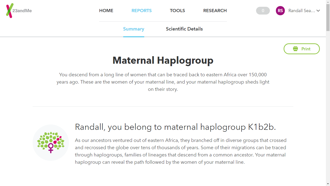 Genea-Musings: 23andMe Modified Their mtDNA Report