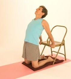 Latihan pernafasan Camel Pose