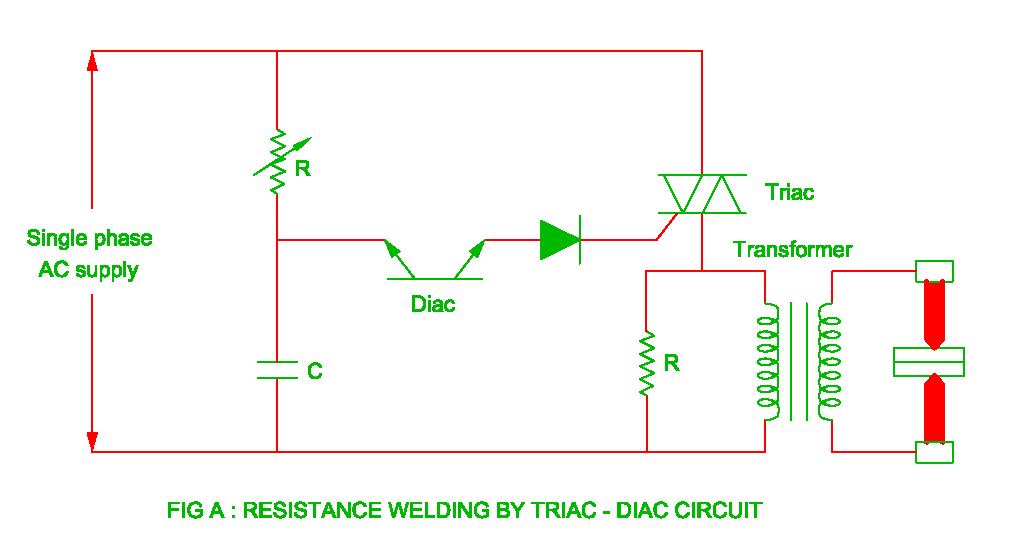 Resistance welding using Triac - Diac circuit | Electrical