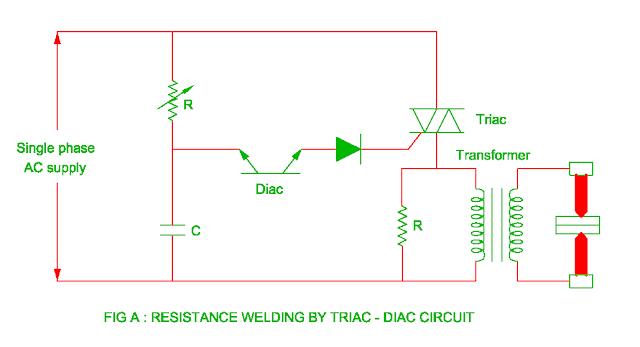 resistance welding using triac and diac