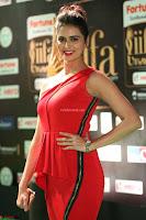 Meenakshi Dixit in Red One Shoulder Red Zipped up gown at IIFA Utsavam Award 72.JPG
