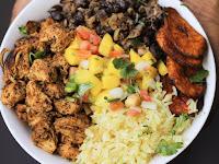 Cuban Chicken & Black Bean Rice Bowls