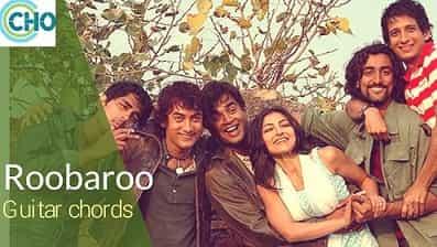 Roobaroo Guitar chords Accurate complete | Rang de basanti