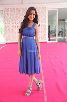 Divya Nandini stunning Beauty in blue Dress at Trendz Exhibition Launch ~  Celebrities Galleries 068.JPG