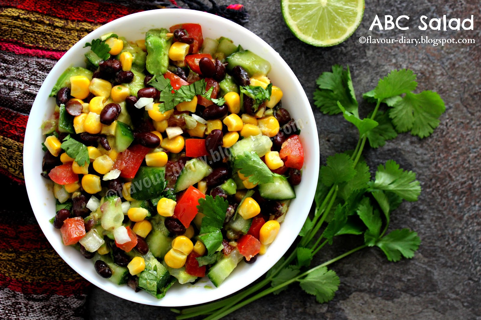Avocado Black Bean Cucumber Salad recipe