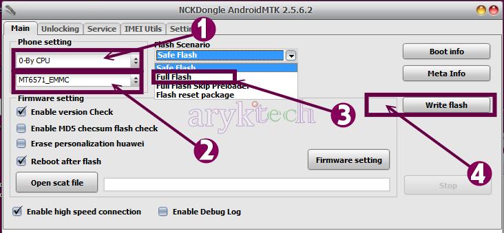 NCK AndroidMTK MTK Android Flashing Setup