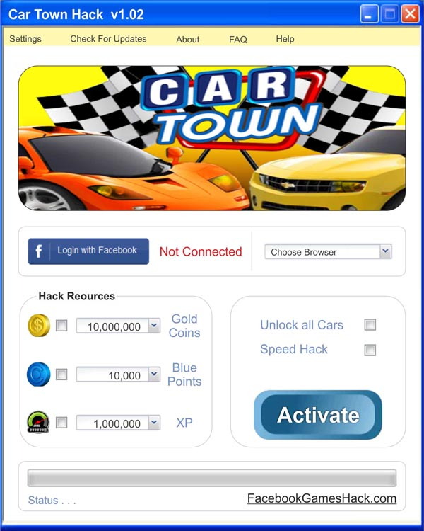 Car Town Hack: Car Town Hack - BluePoints and Gold Coins Generator