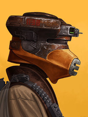 Star Wars Princess Leia as Boushh Portrait Print by Mike Mitchell x Mondo
