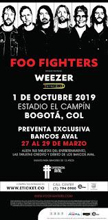 Concierto de FOO FIGHTERS en Bogotá, Colombia 2019