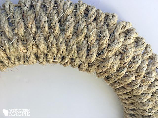 sisal rope wreath
