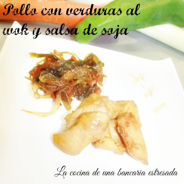 Receta de pollo con verduras en wok y salsa de soja