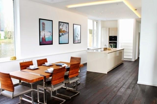 Fotos de comedor y cocina juntos colores en casa Diseno de cocinas integradas al comedor