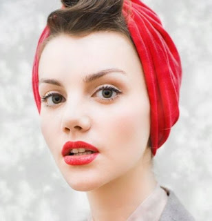 vintage head wrap,pin-up girl,vintage makeup,vintage style,Vintage clothing,