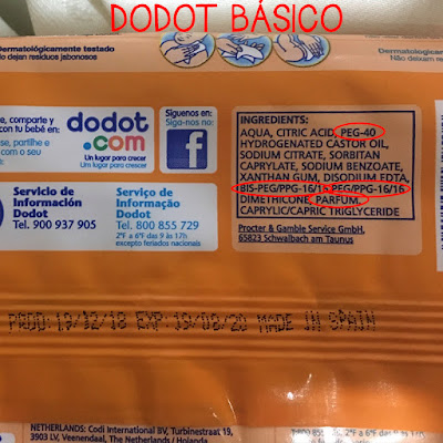 ingredientes toallitas dodot básico blog mimuselina sustancias tóxicas mejores y peores toallitas húmedas para bebé del mercado