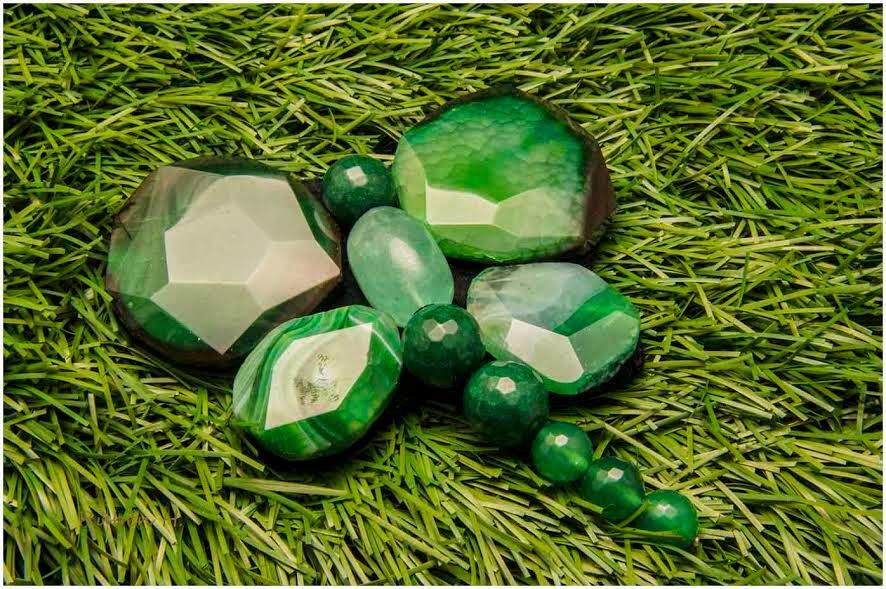 Broche plata semipreciosas agatas verdes artesanal personalizado