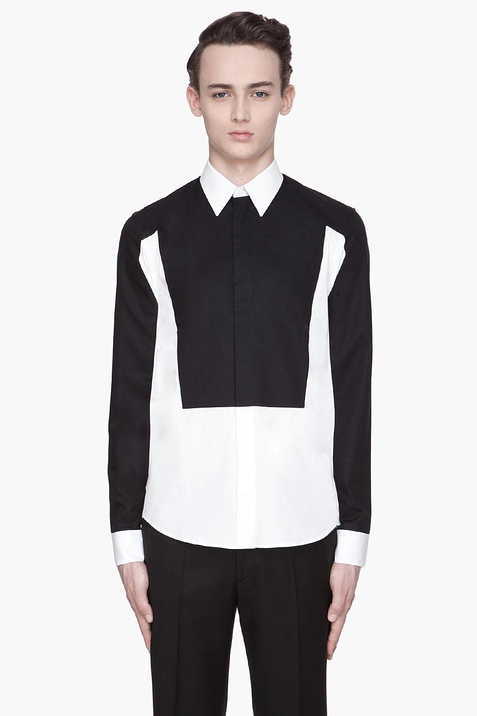 Givenchy White Amp Black Trompe Loeil Contrast Shirt