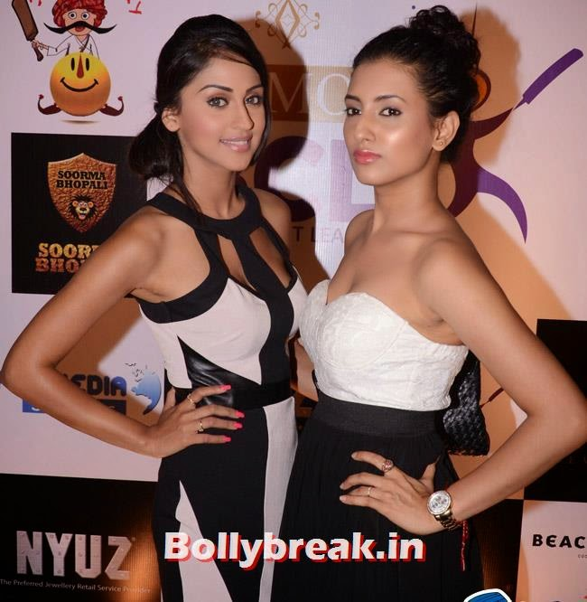 Krystle D Souza and Aditi Gupta, Box Cricket League Success Party - Tv Babes as Guests
