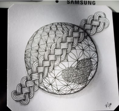 Gobular Grid and Cruze Zentangle