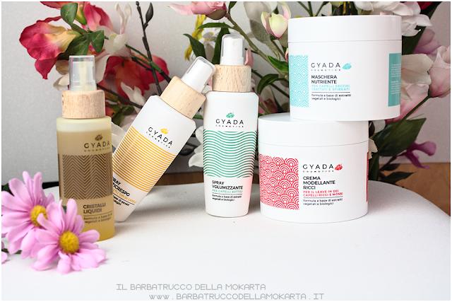 gyada cosmetics, vegan bio, capellir eview hair routine