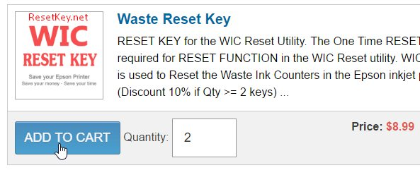 How to buy Epson L210 wic reset key ~ Reset Epson L210 - Epson L210