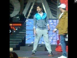 Sidharth Malhotra on sets of SAIFTA 2013 for rehearsals