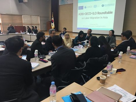 Image Attribute: 8th ADBI-OECD-ILO Roundtable on Labor Migration in Asia (30–31 January 2019, Incheon, Republic of Korea) / Source: ADBI, Tokyo