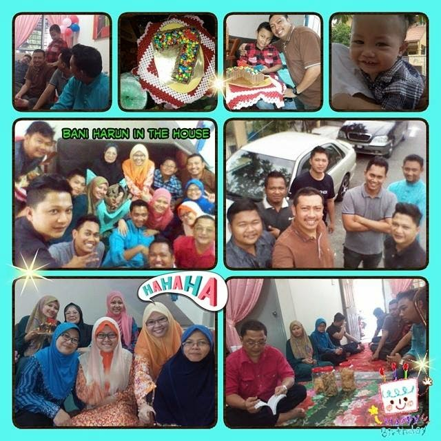 birthday celebration, surprise birthday party, ameer asyraf, deko kek nombor 7