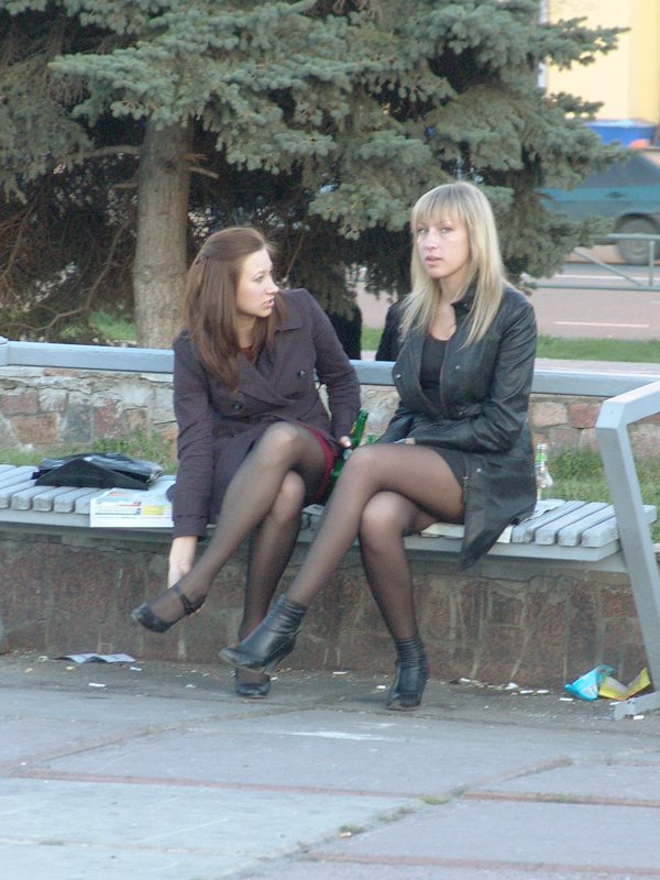 Fashion Tights Skirt Dress Heels Tights Street Look