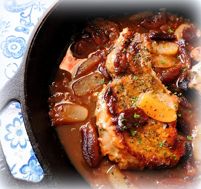 Sweet Apple & Apricot Pork Chops