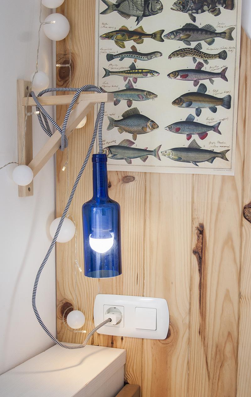 Reciclando con Ikea: Diy lámpara con botella de cristal9