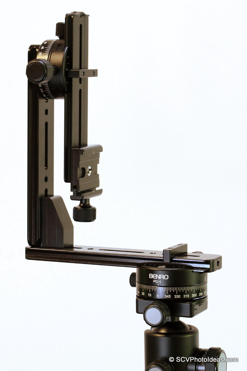 Nodal rail in PC-0 clamp at vertical position