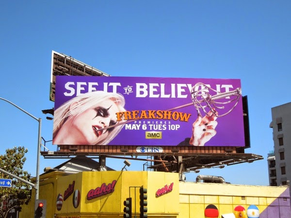 Freakshow Morgue sword swallower season 2 billboard
