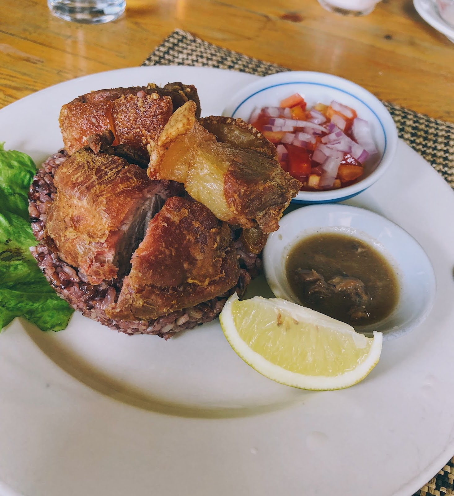 Baguio bagnet from cafe by the ruins