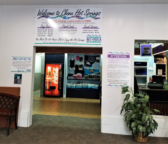 The entrance to the pool. They have mini store