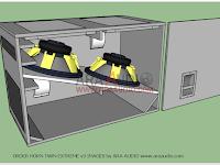 "Skema box Subwoofer Order Horn Twin Extreme 18"" glerr"