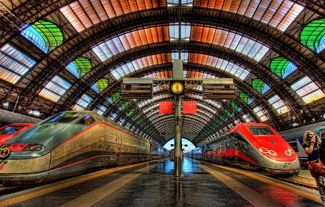 Estação Central de Milão na Itália